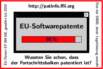 [EU-Software-Patente: |********* | 90%]